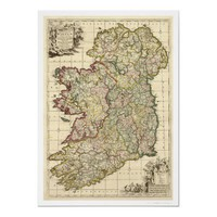 Map of Ireland by Frederik de Wit 1710 Print from Zazzle.com