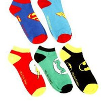 Amazon.com: DC Comics Superhero No-Show Socks 5 Pair: Clothing