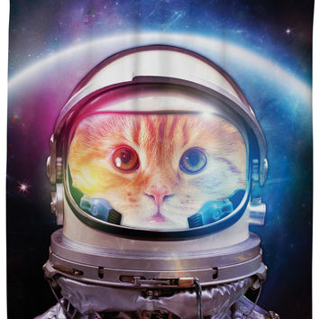 Space Cat Shower Curtain - One-Size