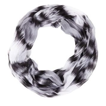 Zig Zag Print Infinity Scarf by Charlotte Russe - Black Combo