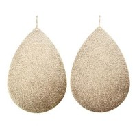 Brushed Gold Teardrop Earrings by Charlotte Russe - Gold