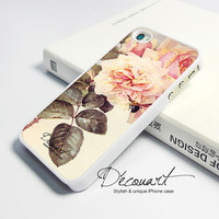 iPhone 4 case, iPhone 4s case, case for iPhone 4, floral illustration W095