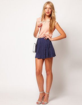 ASOS Skater Skirt in Spot at asos.com
