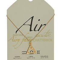 Air Symbol Necklace - Necklaces