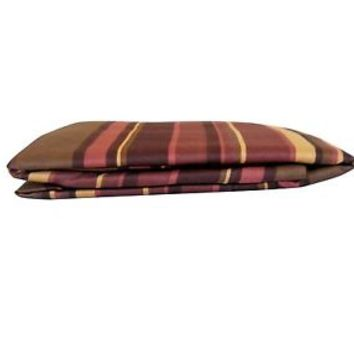 Fitted Sheet King Size Bed Burgundy Maroon Bedding Stripe Gold