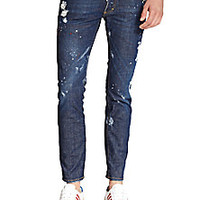 DSQUARED - Clement Bleached & Painted Tapered Jeans - Saks Fifth Avenue Mobile