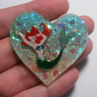 Kawaii LITTLE MERMAID Resin Cabochon or Necklace Charm -- YOUR Choice