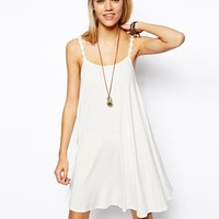 ASOS Swing Dress With Daisy Chain Straps