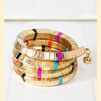 Color Code Coil Bracelet