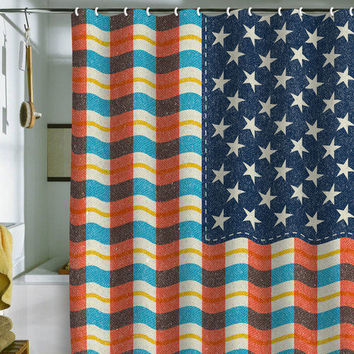 DENY Designs Home Accessories | Nick Nelson Plaid Flag Shower Curtain