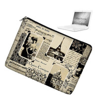 Laptop Sleeve 13 inch MacBook Case Apple MacBook Pro 13 Case zipper padded - April in Paris Eiffel Tower - In Stock