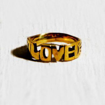 Love Word Ring - ACCESSORIES - Shop Online
