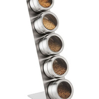 MAGNETIC ARTISAN SALT AND SPICE RACK | magnetic spice rack, seasoned salts, | UncommonGoods