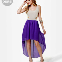 Cute Purple Dress - High Low Dress - Sleeveless Dress - $44.50