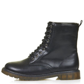 BANDED Lace Up Boots - Black
