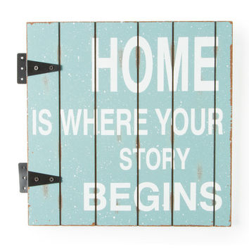 Home is Where Your Story Begins Wood Wall Plaque