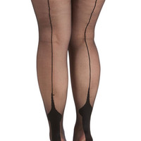 ModCloth Boudoir Sipping Cappuccino Tights in Plus