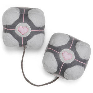 Portal Weighted Companion Cube &quot;Fuzzy Dice&quot;