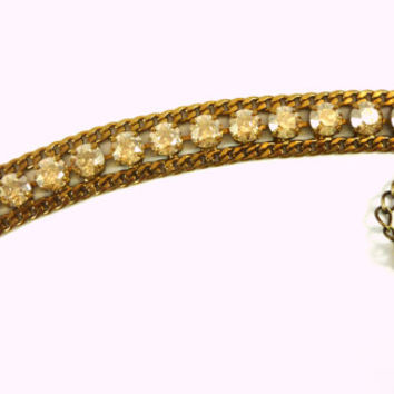 NEW Swarovski crystal tennis bracelet, cuff bracelet, golden shadow, shiny bronze, gold tone, designer inspired
