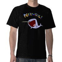 Narwhal! black shirt from Zazzle.com
