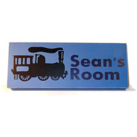 Train Room Decor Wood Name Sign