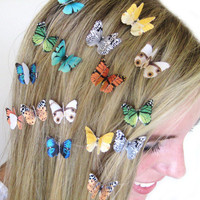 PICK 3 Butterfly Hair Clips Custom Colors Colorful