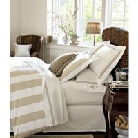 Grand Embroidered 280-Thread-Count Duvet Cover & Shams
