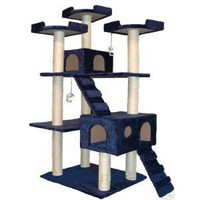 Amazon.com: GoPetClub Cat Tree Condo Scratcher Post Pet Bed Furniture F2040-Blue: Pet Supplies