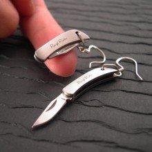 REAL Working Sharp Tiny Folding Knife Earrings
