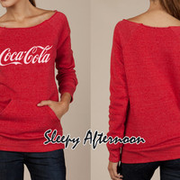 Coca Cola - Women Eco Fleece Sweatshirt -  Red