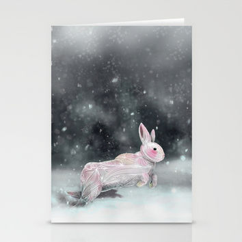 White Rabbit Stationery Cards by Ben Geiger