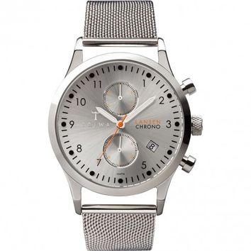 Triwa Stirling Silver Stainless Steel Lansen Chrono Wrist Watch