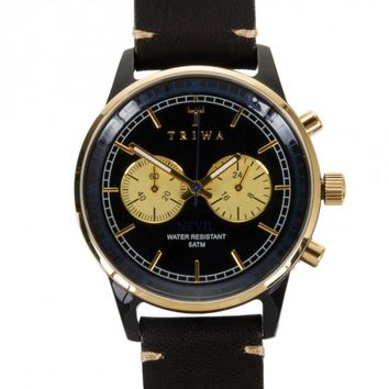 Triwa Blue Raven Nevil Leather Band Watch