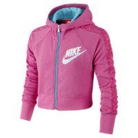 Nike Seasonal Cropped Full-Zip Girls' Hoodie