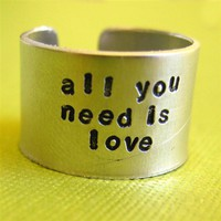 Custom Quote Ring - Spiffing Jewelry