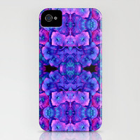 Future Floral Blue iPhone Case by Amy Sia | Society6