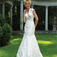 Mermaid Gown Sash Lace Wedding Dress WDMB019 -Shop offer 2012 wedding dresses,prom dresses,party dresses for girls on sale. #Category#