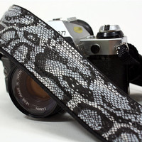 dSLR Camera Strap, Snake Print, Black, Quick connect