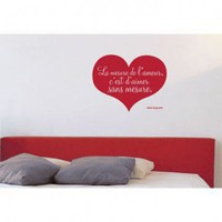 ADZif Blabla Love Without Measure (French) Wall Decal - T3123-FR - All Wall Art - Wall Art & Coverings - Decor