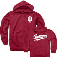 Indiana Hoosiers Cardinal IU Basketball Script Hooded Sweatshirt