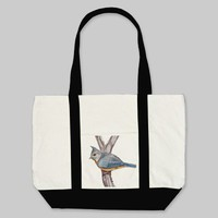 Gray Crested Tote Bag from Zazzle.com