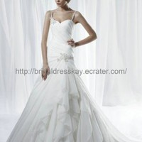 2012 spaghetti strap chiffon wedding dress bridal dress wedding gown bridal gown