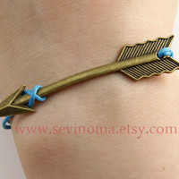 The Hunger Games,  Arrow wax cords bracelet, SALE