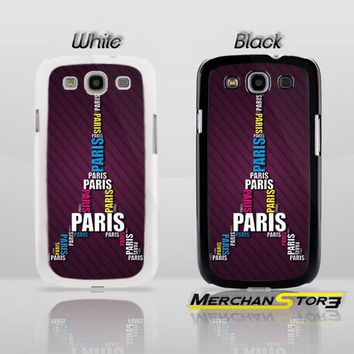 Typo Paris Eiffel Tower Samsung Galaxy S3 Case