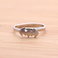 BATMAN ring in silver by bythecoco on Zibbet