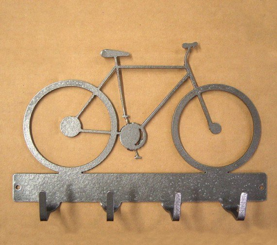 Bicycle Key Rack by KnobCreekMetalArts on Etsy