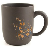 Amazon.com: Black Cherry Blossom Chinese Yixing Clay Mug 21 ounces: Kitchen &amp; Dining
