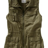 Women's Canvas Surplus Vests | Old Navy