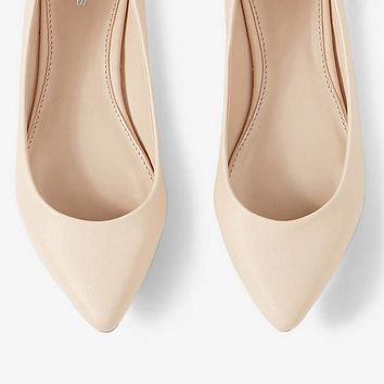 TEXTURED POINTED TOE FLAT from EXPRESS