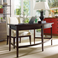 PoshLiving - Huntington Curved Desk in Amaretto Cherry - Product Images